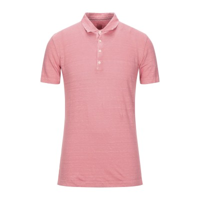 120% ポロシャツ ピンク M リネン 100% ポロシャツ