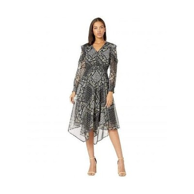 Sam Edelman サムエデルマン レディース 女性用 ファッション ドレス Floral Scarf Hanky Hem Dress - Blue Multi
