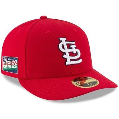 ニューエラ 帽子 アクセサリー メンズ St. Louis Cardinals New Era 2019 Mexico Series Authentic Collection Low Profile 59FIFTY Fitted Hat Red