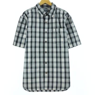 カーハート Carhartt 半袖 コットンチェックシャツ メンズXL /eaa147586