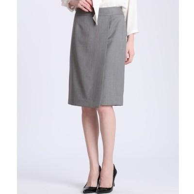 【スーペリアクローゼット/SUPERIOR CLOSET】 ピンストライプラップデザインスカート