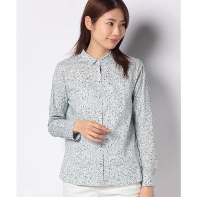 レリアンプラスハウス アルファベットプリントシャツ(サックス)【返品不可商品】