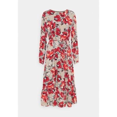 ヴィラ ワンピース レディース トップス VIDOTTIES MIDI DRESS - Maxi dress - humus with red flowers