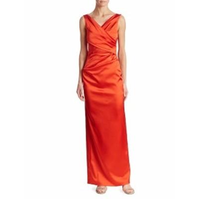 タルボットランホフ レディース ワンピース Sleeveless Ruched Column Gown
