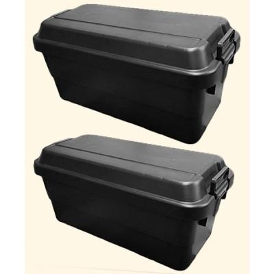 リス 収納ボックス WORK&WORK トランクカーゴ (70Lブラック×2)