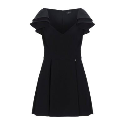 ELISABETTA FRANCHI ミニワンピース&ドレス ブラック 44 ポリエステル 89% / ポリウレタン 11% ミニワンピース&ドレス