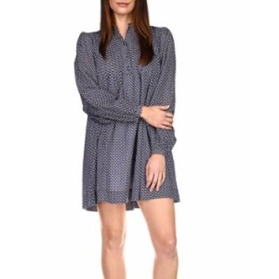マイケルコース レディース ワンピース トップス Printed Shift Dress Midnight Blue Multi