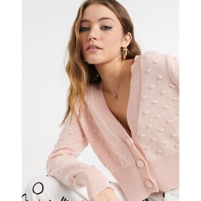 コットン オン レディース カーディガン アウター Cotton:On textured cardigan in pink Blossom