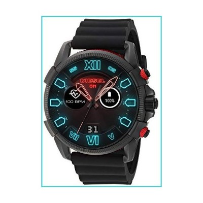 Diesel Men's Stainless Steel Touchscreen Watch with Silicone Band Strap, Black, 22 (Model: DZT2010)【並行輸入品】