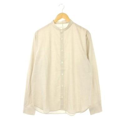【中古】チルトザオーセンティックス tilt The authentics 20SS バンドカラーシャツ 長袖 コットン 3 ベージュ /DF ■OS メンズ 【ベクトル 古着】