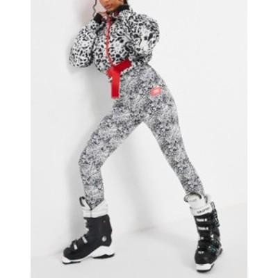 エイソス レディース カジュアルパンツ ボトムス ASOS 4505 ski skinny ski pants with stirrup in mono animal Animal