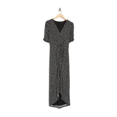 エーエフアールエム レディース ワンピース トップス Samie Printed Midi Dress NOIR DAISY DITSY