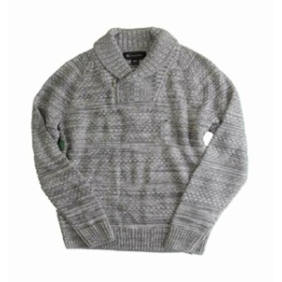 HEATHER  ファッション トップス INC Light Heather Gray Mens Sweater Size 2XL 1/2 Zip Shawl Collar
