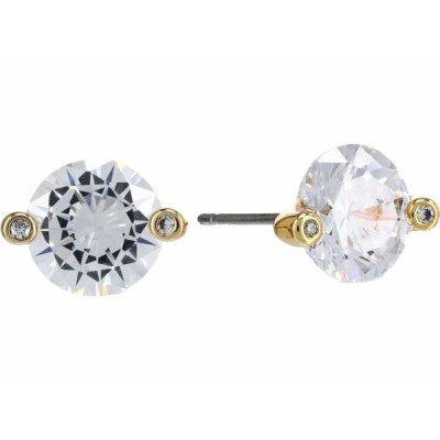 ケイト スペード ピアス&イヤリング アクセサリー レディース Brilliant Statements Duo Prong Studs Earrings Clear/Gold