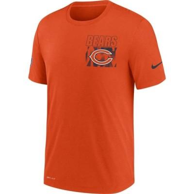 ナイキ Nike メンズ Tシャツ ドライフィット トップス Chicago Bears Sideline Dri-FIT Cotton Facility Orange T-Shirt