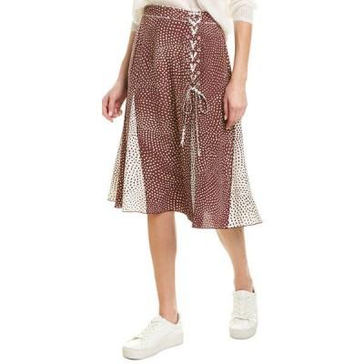 ラグアンドボーン スカート ボトムス レディース rag & bone Dirdre Skirt wine multicolor
