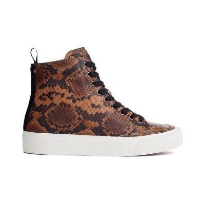 ラグアンドボーン スニーカー シューズ レディース rag & bone RB High Top Leather Sneaker golden brown cow leather