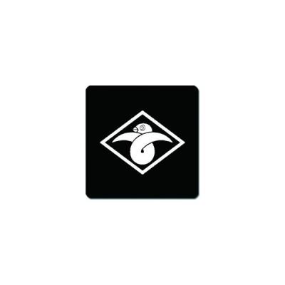 家紋シール 菱に結び雁金紋 24cm x 24cm KS24-2649W 白紋