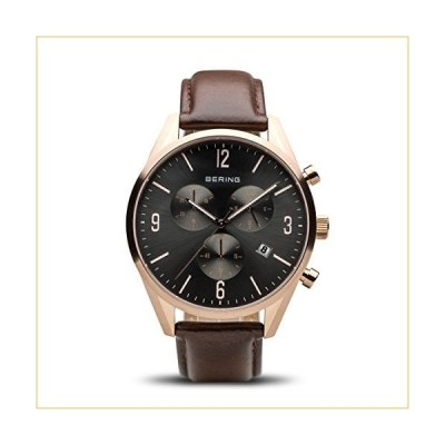 BERING Time | Men's Slim Watch 10542-562 | 42MM Case | Classic Collection | Calfskin Leather Strap | Scratch-Resistant Sapphire Crystal | Minimalistic