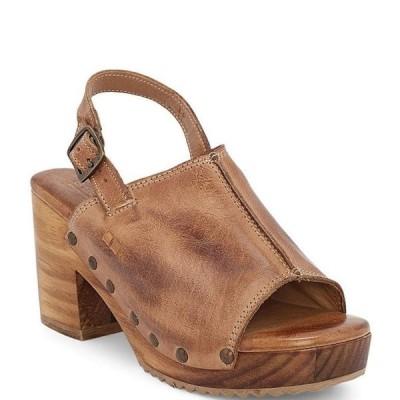 ベッドステュ レディース サンダル シューズ Marie Leather Block Heel Sling Back Platform Sandals