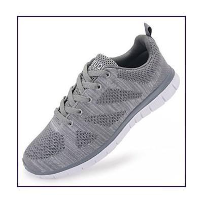 vibdiv Men's Lightweight Lace-Up mesh Distance Running Shoes(8 D(M) US,41,Grey)【並行輸入品】