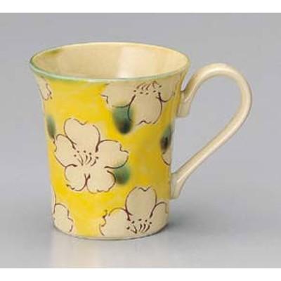 さくら マグカップ イエロー おしゃれ かわいい マグカップ  手付マグ フリーカップ  和食器