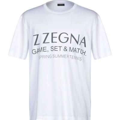ZZEGNA メンズ Tシャツ トップス t-shirt White