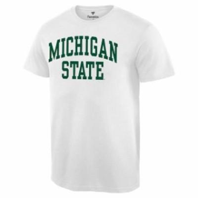 Fanatics Branded ファナティクス ブランド スポーツ用品  Michigan State Spartans White Basic Arch T-Shirt