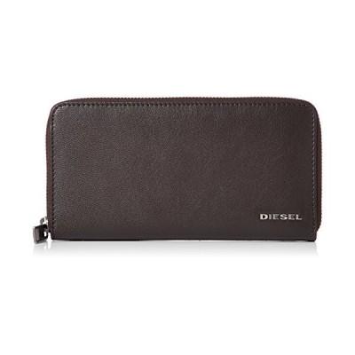 (ディーゼル) DIESEL メンズ ラウンドジップ 長財布 FRESH STARTER 24 ZIP - wallet & card holder X05598P1752 UNI (Free) ブラウン系