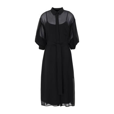 DKNY 7分丈ワンピース・ドレス ブラック S ポリエステル 100% 7分丈ワンピース・ドレス