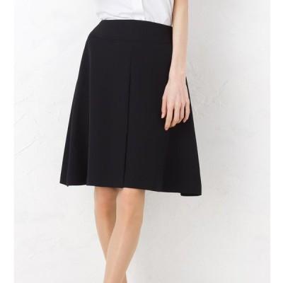 着心地と美シルエットにこだわった究極のリラックスフレアプリーツスカート 美形シリーズ 事務服 オフィス 通勤 ひざ丈 きれいめ