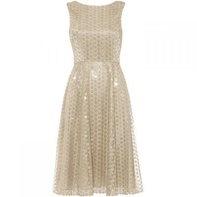 フェイズ エイト Phase Eight レディース ワンピース ワンピース・ドレス Imani Sequin Embroidered Flower Dress Gold