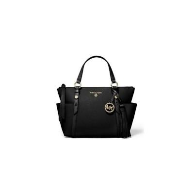 マイケルコース トートバッグ バッグ レディース Nomad Small Convertible Top Zip Leather Tote Black/Gold