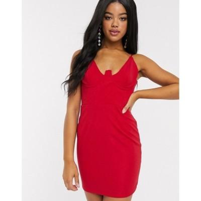 インザスタイル レディース ワンピース トップス In The Style x Fashion Influx extreme corset mini dress in red