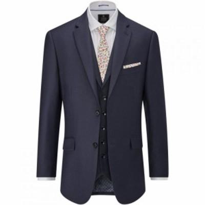 スコープス Skopes メンズ スーツ・ジャケット アウター Benedict Wool Rich Suit Jacket Navy
