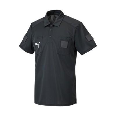 プーマ(PUMA) サッカー 審判 メンズ 半袖 レフリーシャツ ブラック 656328 01 フットサル レフェリー 審判着 ウェア