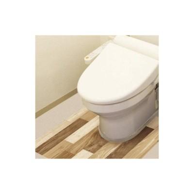 防水模様替えシート トイレ床用 90cm×80cm LBr(ライトブラウン) BKTY-9080  キャンセル返品不可 他の商品との同梱総計3個まで