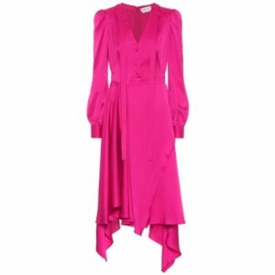 アレキサンダー マックイーン Alexander McQueen レディース ワンピース ワンピース・ドレス Asymmetrical silk-satin dress Cocktail Pi
