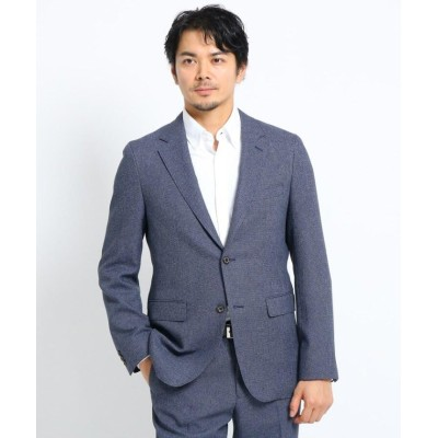 【タケオキクチ】 ウールライクバーズアイジャケット メンズ ブルー 04(LL) TAKEO KIKUCHI