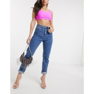 エイソス レディース デニムパンツ ボトムス ASOS DESIGN Recycled Farleigh high waist slim mom jeans in dark wash