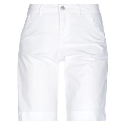 THELMA & LOUISE バミューダパンツ ホワイト 36 コットン 98% / ポリウレタン 2% バミューダパンツ