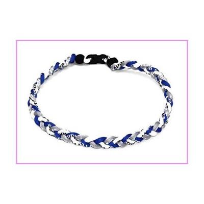"""【送料無料】OOIN Package of 12 Baseball Titanium Necklaces for Boys Tornado Braided Rope Necklace (Blue/Gray/White, 20"""")【並行輸"""
