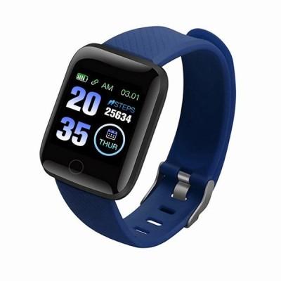 2020新116プラス男性の女性の スマートウォッチ D13心拍数フィットネストラッカー 腕時計 血圧測定歩数計 スマートウォッチ