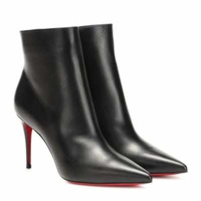 クリスチャン ルブタン Christian Louboutin レディース ブーツ ショートブーツ シューズ・靴 So Kate 85 leather ankle boots Black