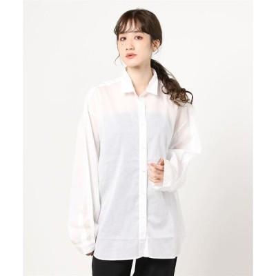 シャツ ブラウス YANUK(ヤヌーク) BIG SHIRT-LAWN / ビックシルエットシャツ