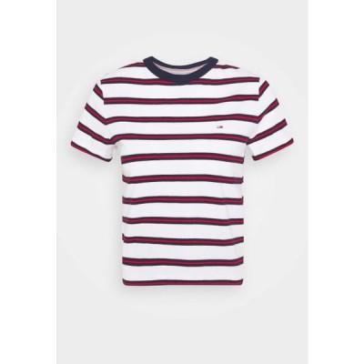 トミージーンズ レディース ファッション REGULAR CONTRAST BABY TEE - Print T-shirt - white