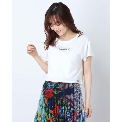 デシグアル Desigual Tシャツ半袖 SONAR CROP (ホワイト)