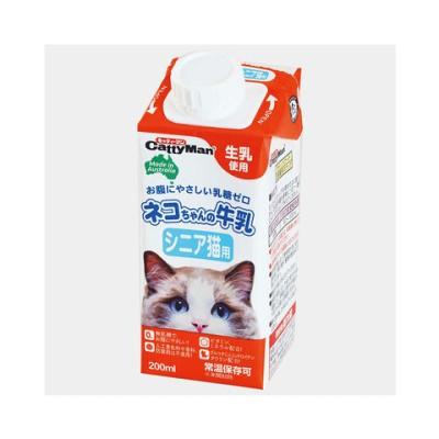 キャティーマン ネコちゃんの牛乳 シニア猫用 200ml 猫 ミルク 関東当日便