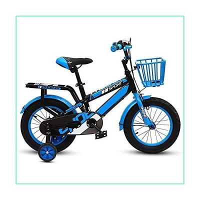 ERGDFH Kid Bike City Road Bike High Carbon Steel Frame 14/16/18Inch with Auxiliary Wheel Children's Folding Bicycle 3-6-7-8 Years Old Travel Bicycle