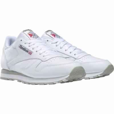 リーボック REEBOK メンズ スニーカー シューズ・靴 Classic Leather Sneaker White/Grey